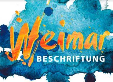 Weimar Beschriftung